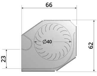 40mm crossflow fan by Airtek